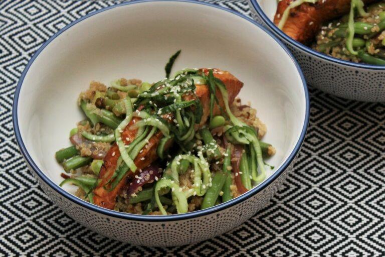 Aziatische quinoa met zalm 2