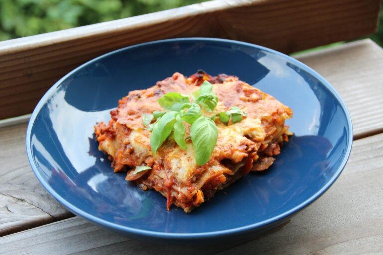 Vegetarische lasagne 1 portie